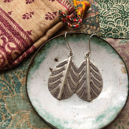 Hilltribe Palm Earrings