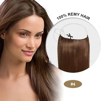 4 MEDIUM BROWN STRAIGHT 1PC FLIP IN HUMAN HAIR EXTENSIONS