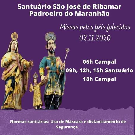 Santuário São José de Ribamar realiza celebrações dos fiéis falecidos.