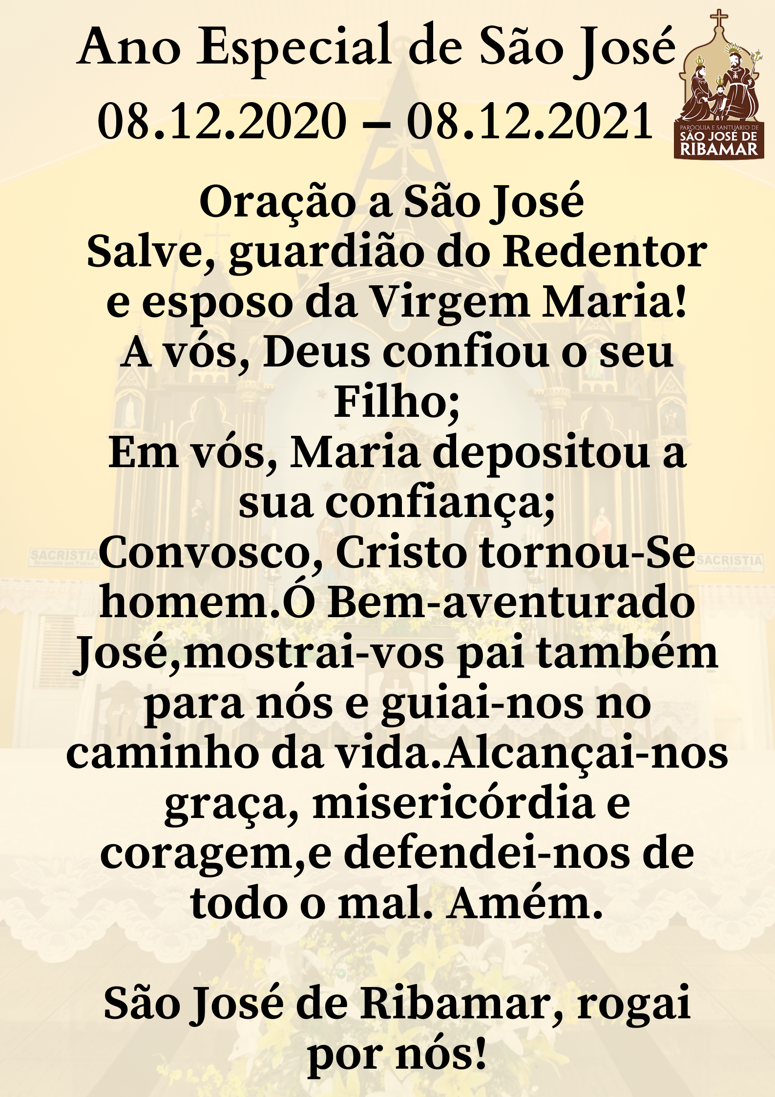 Ano Especial de São José08.12.2020 – 08.