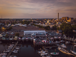 Connecticut Drone Photography: Captain's Cove Seaport
