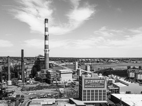 Connecticut Drone Photography: PSEG Smokestack In Bridgeport