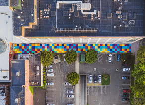 Connecticut Drone Photography: The Peacock Alley Mural Project