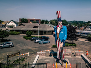 Connecticut Drone Photography: Iconic Danbury Fair Uncle Sam Statue