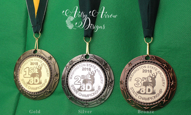 Medals with custom acrylic inserts