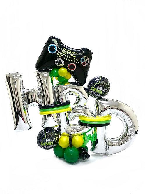 Quick Order - Medium Gamer-2 HBD Balloon Arrangement
