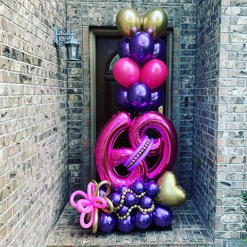 Quick Order - Medium Digit Balloon Arrangement