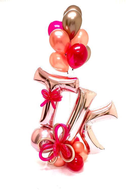 Quick Order - Size Cute! Letter Balloon Arrangement