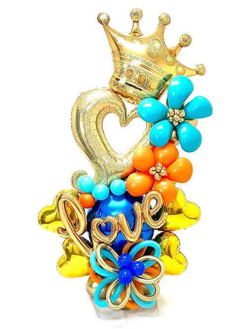 Quick Order - Large Love Hearts/Flowers Balloon Arrangement