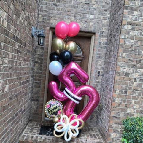 Quick Order - Medium Happy Birthday Star Balloon Arrangement