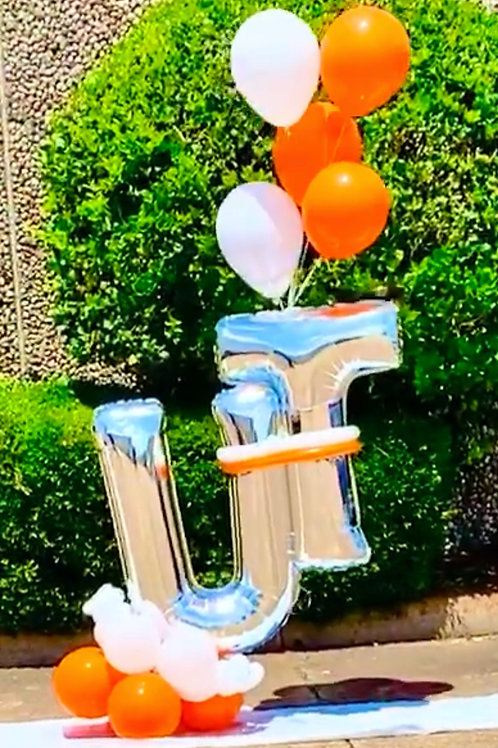 Quick Order - Small (2) Letter Balloon Arrangement
