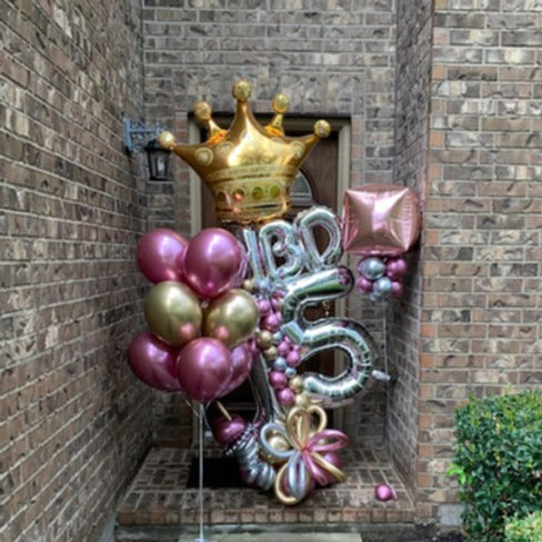Quick Order - Large HBD Crown Balloon Arrangement