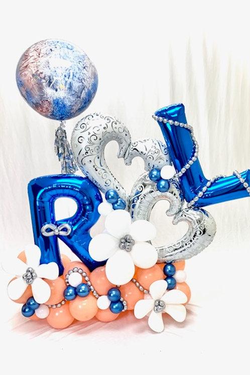 Quick Order - Large Anniversary Balloon Arrangement - Hearts