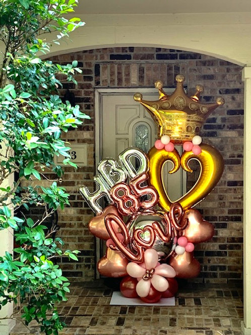 Quick Order - Large number/HBD hearts Balloon Arrangement