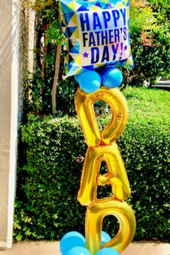6/19 - 6/20 Curbside Pick Up - Small DAD 4ft Balloon Arrangement