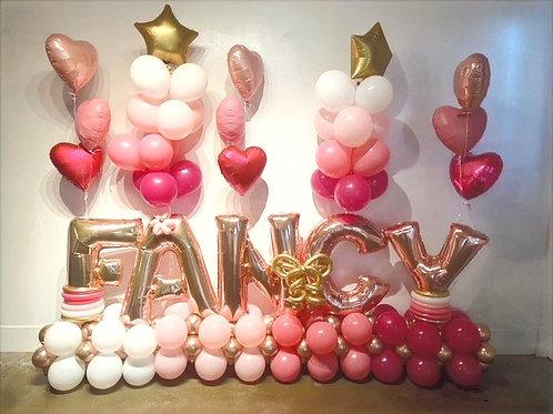 Quick Order - Large 5 letter floating Balloon Arrangement