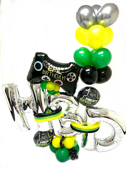 Quick Order - Medium Gamer HBD Balloon Arrangement
