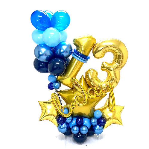 Quick Order - Medium b-day Stars Balloon Arrangement