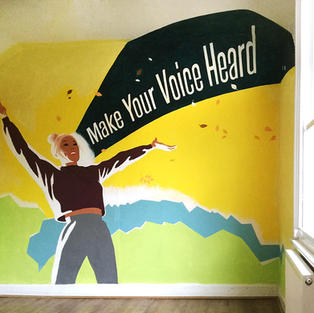 Make Your Voice Heard mural