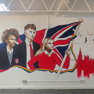 Mural in Priory School