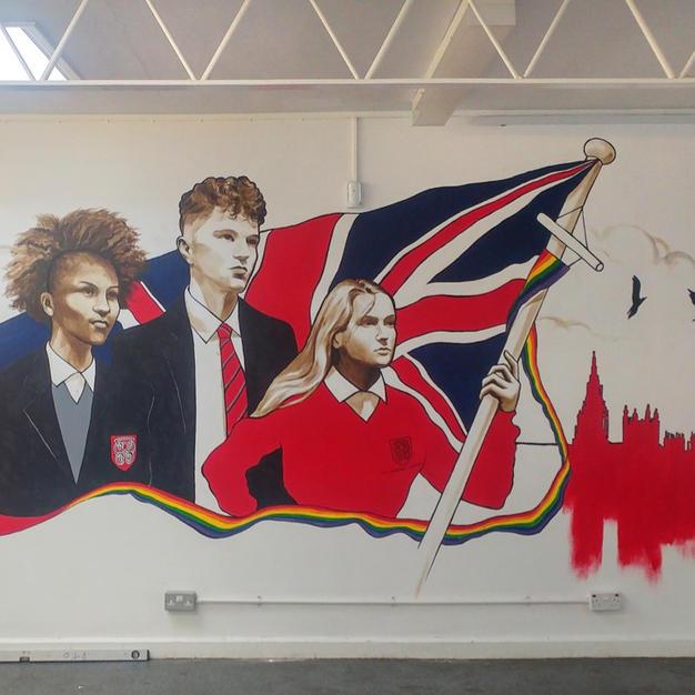 Mural in Priory School