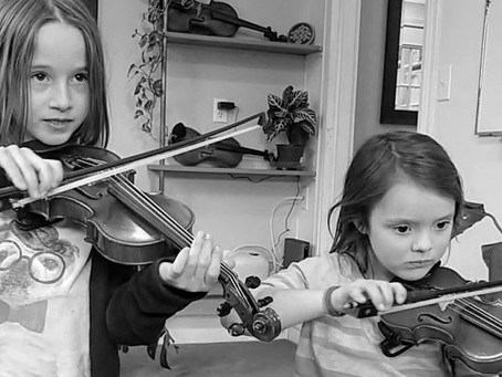Starting violin at a very early age