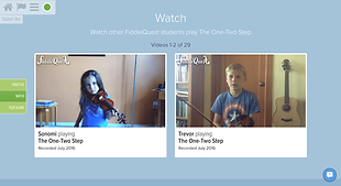 Screenshot example of student videos