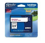 "Brother TZe243 18mm (0.7"") Blue on White tape for P-Touch 8m (26.2 ft)"