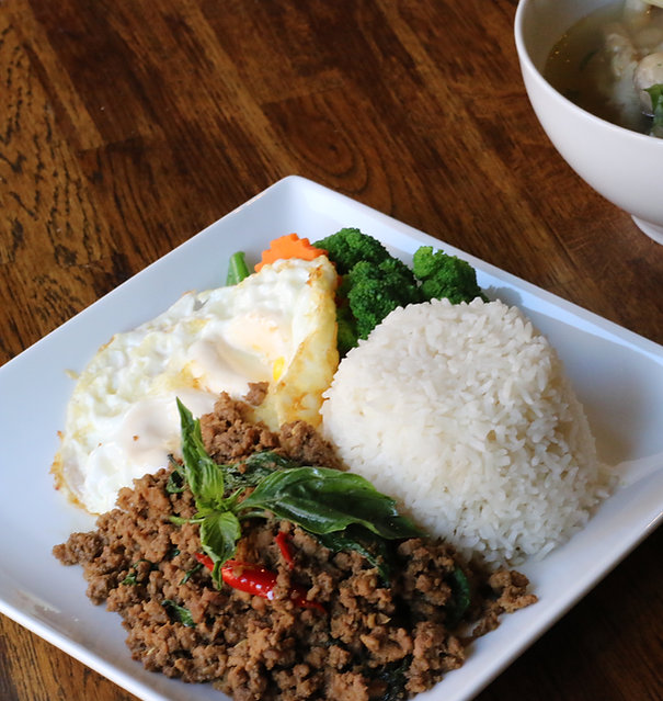 Thai Food, Basil Ground Beef at I Am Thai Restaurant