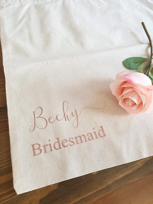Bridal Cotton Tote Bag