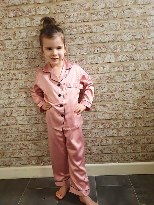 Children's Long Satin Pyjamas