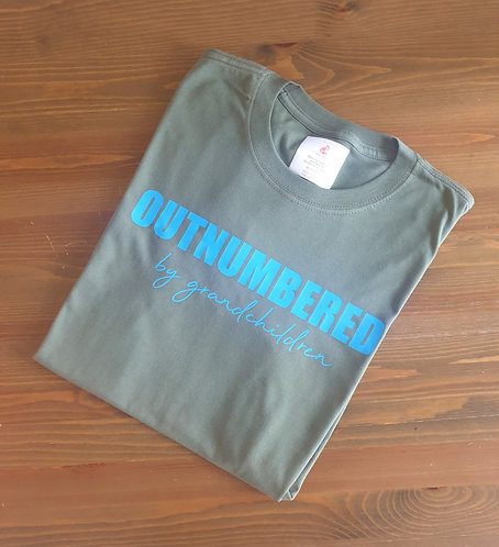 Mens Outnumbered by... T shirt