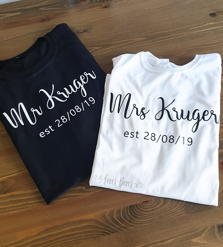 Mr/Mrs est T Shirt