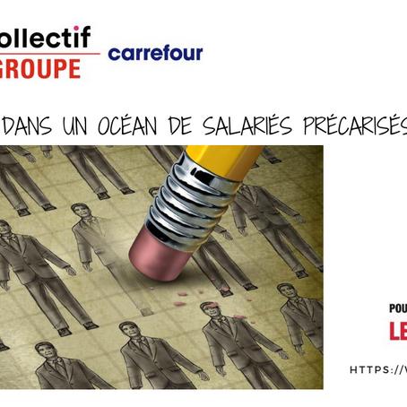La CGT dénonce le coup de « com' » de Carrefour et du Président de la République Emmanuel Macron.