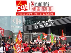 La CGT du groupe Carrefour appelle les salariés à une mobilisation nationale, Le 05 mars  à MASSY.