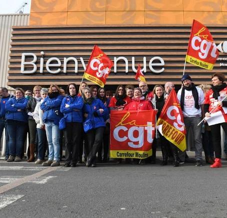 Grève à carrefour Moulins, ce vendredi 09 février 2018