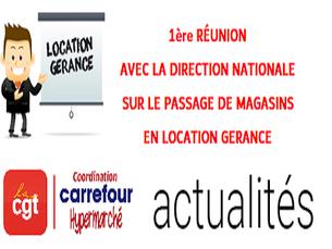 Compte rendu Cgt carrefour hypermarché sur la Réunion dite «de concertation» sur la location gérance