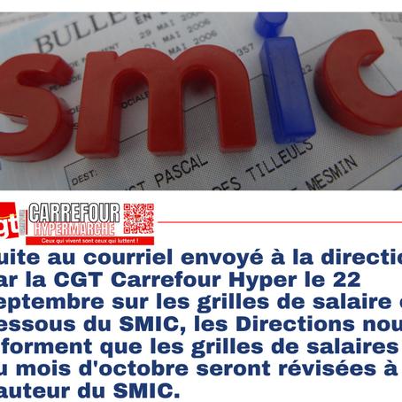 Suite au courriel envoyé à la direction par la coordination CGT Carrefour Hyper le 22 septembre sur