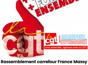 Rassemblement carrefour France à Massy, le 05 mars 2021