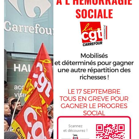 STOP A L'HÉMORRAGIE SOCIALE - le 17 septembre 2020, tous en gréve pour gagner le progrès social.