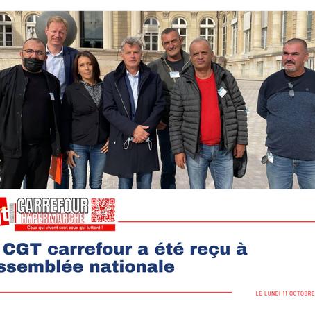 La CGT carrefour a été reçu à l'assemblée nationale ce lundi 11 octobre 2021