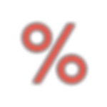 Red Percent Icon