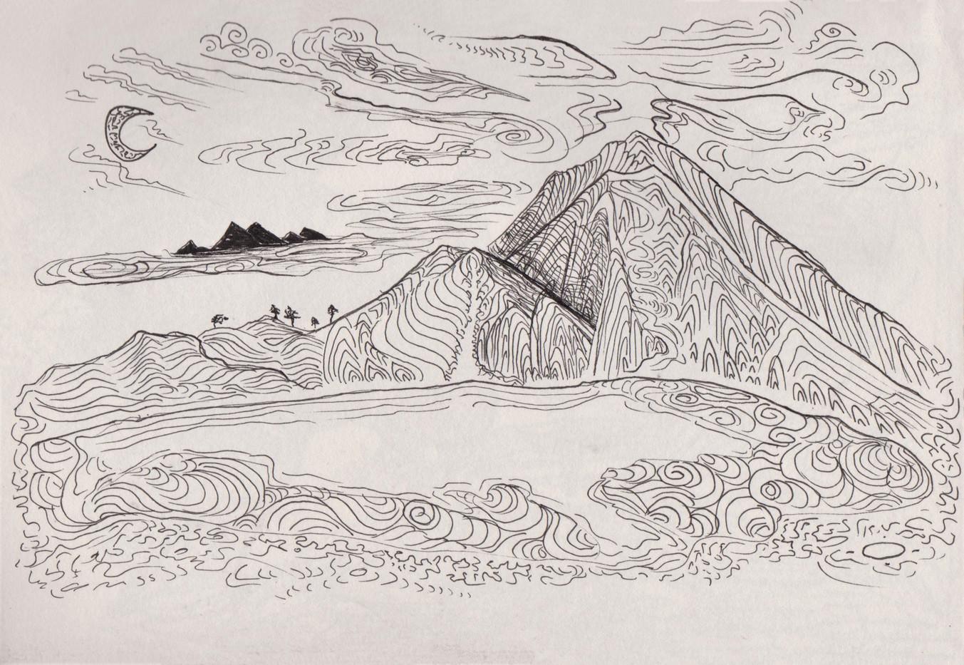 Sun rise over Mount Rinjani