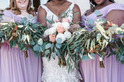 Jamea with two bridesmaids.JPG