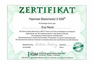 Zertifikat Modul 3