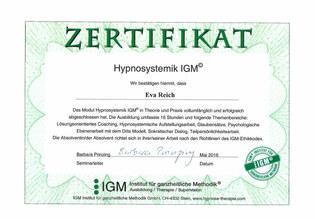 Zertifikat Hypnosystemik