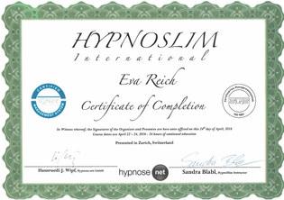 Zertifikat Hypnoslim