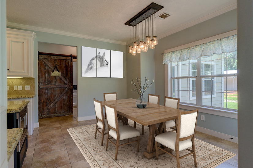 Virtual Room Staging, One Room