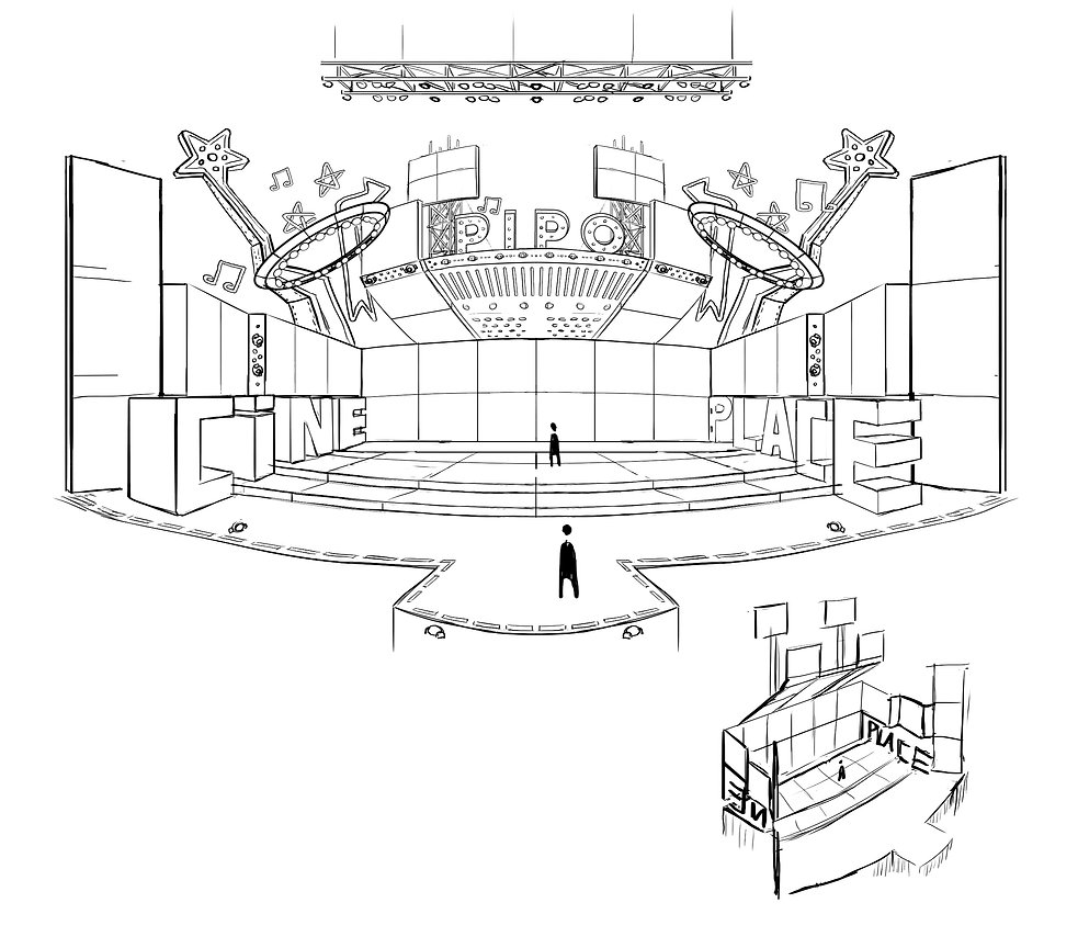 Sketch - palco Cineplace