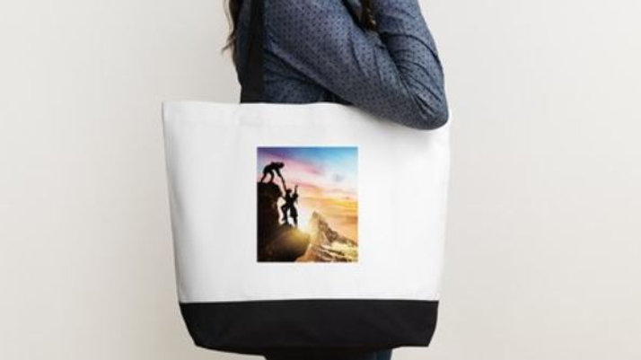 Two Tone Classic Deluxe Cotton Tote Bag